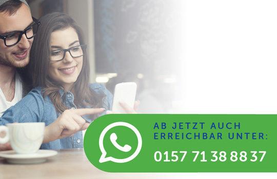 Auch über WhatsApp erreichbar